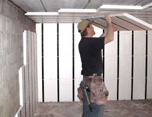 INSULATION AND FRAMING SYSTEM FOR CONCRETE: Walls and Ceilings