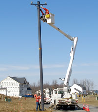Reinforced-composite utility pole: Stronger Than Wood