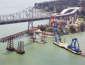 Chinese Steel for Bay Bridge Hung Up