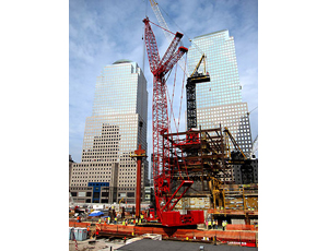 Big Steel Placed at New One World Trade Center in Manhattan