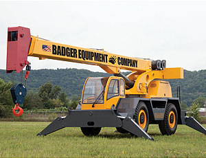 All-Terrain Crane: Low Cab for a Closer View