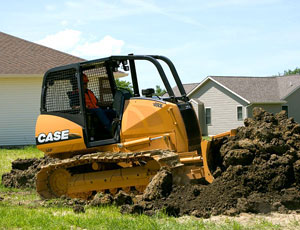 Compact crawler dozer: Gets Into Small Spaces