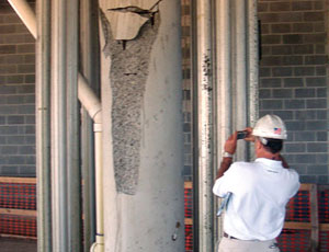 Aluminum alloy shores around failed columns have to be factored into implosion plan.