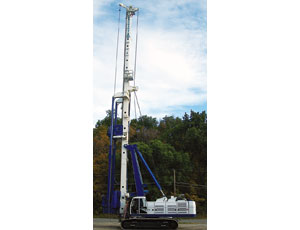 Dual rotary-head drill rig: Goes Deep