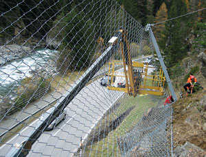 Rockfall Protection: Modular Installation