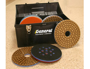 Floor Polishing: Discs Fit Standard Surface Grinders