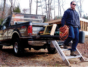 Pickup-Truck Staircase: Fits Any Full-Size Pickup Truck