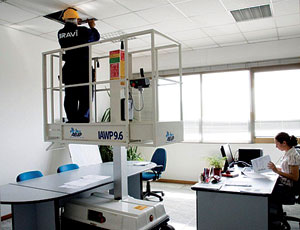 Indoor Aerial Work Platform: Zero-Turning Radius