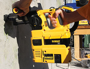 This year's World of Concrete attracted many new options in dust control. DeWalt now offers cordless portability in dust control