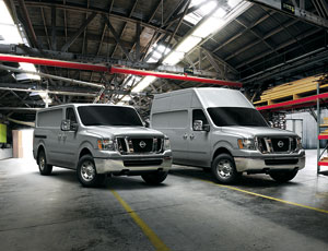 Nissan's new NV-series commercial vans ride more like pickup trucks.