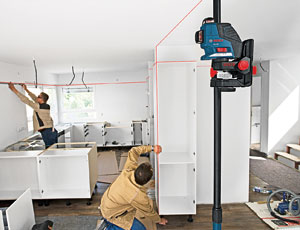 Laser Leveling: Vertical and Horizontal Planes