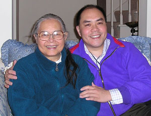Grace and son Ed Lai in a picture taken this past winter.