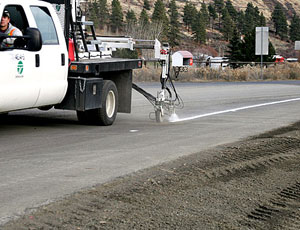 Highway contractors are coming up short because of kinks in the road-paint supply chain, thanks to recession and a critical chemical shortage.