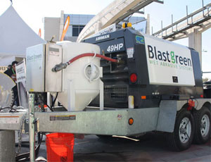 BlastGreen's new wet-abrasive system is available in the U.S. this year.