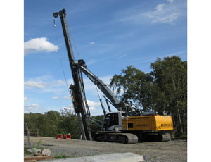 Piling Rig: Installs From Many Angles at One Location