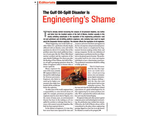 The Spill and Engineers ENR's editorial drew sharp criticism. See more on ENR.com.