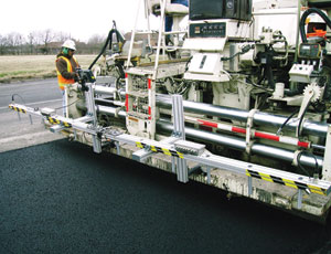Pave-IR measures the temperature of fresh asphalt in real time.