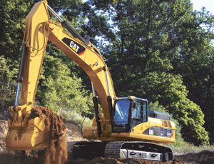 Caterpillar's Model 336 excavator is one of the machines that will be produced at a new plant in Victoria, Texas.