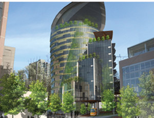 Oregon Sustainability Center's planned height is at least 70 ft.