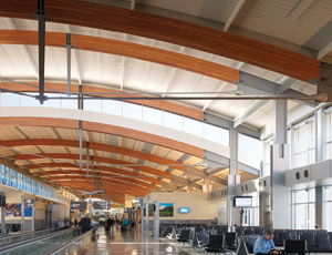 New Airport Terminal Sports Wooden Trusses