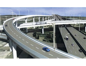 Upgraded Kuwaiti road will bypass local streets with viaducts.