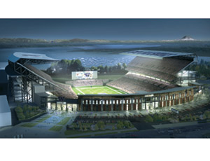 Husky stadium first built in 1920 for the university of washington