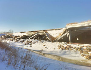 Roof collapse, St. Charles, Ill., snow, ice, green roof, Aquascape, structural collapse