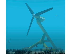 Innovative HS300 turbine capitalizes on the kinetic energy of tidal streams.