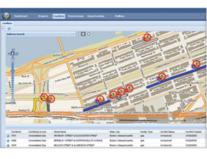 Envista displays integrated construction scheduling data from public and private utilites, municipalities and highway agencies on an online map to prevent conflicts and synch operations.