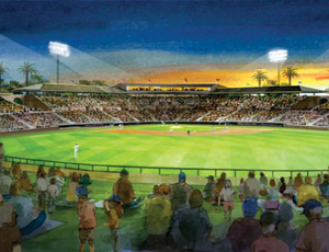 Conceptual drawings show possible layouts for the Cubs' new spring home.