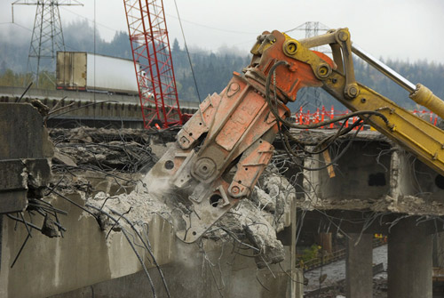 Rubble and Bubbles Mark Green Bridge Demolition