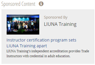 LiUna Training Microsite