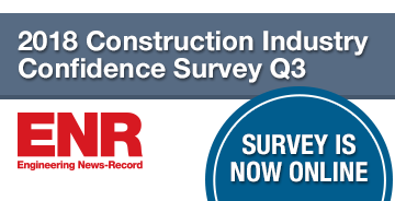 ENR 2018 Construction Industry Confidence Survey