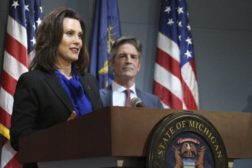 Gretchen Whitmer and Gerry Anderson