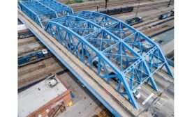 Leggett Avenue Ave. Bridge Bronx drone view
