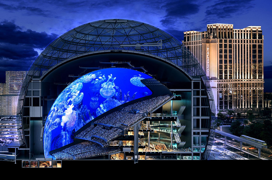 AECOM Out as General Contractor on $1.6B MSG Sphere in Las Vegas