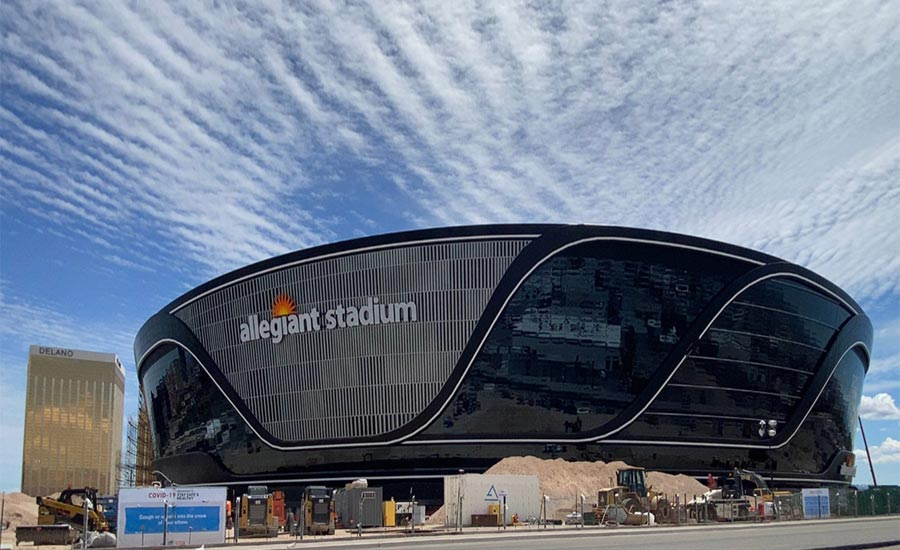 Allegiant Stadium Progress