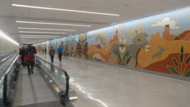 Salt Lake Airport Concourse B Tunnel Mural