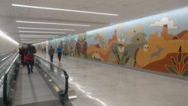 Salt Lake Airport Concourse B Tunnel Mural