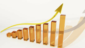 Upward Graph Stock Art