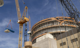 Plant Vogtle's Unit 3 under construction