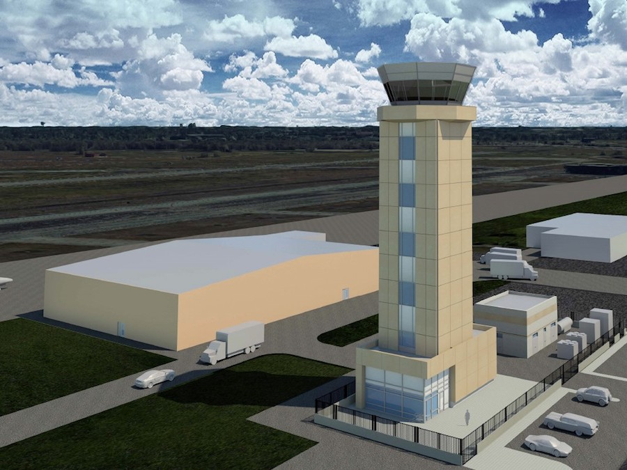 Air Traffic Control Tower Project Starts at Ellington