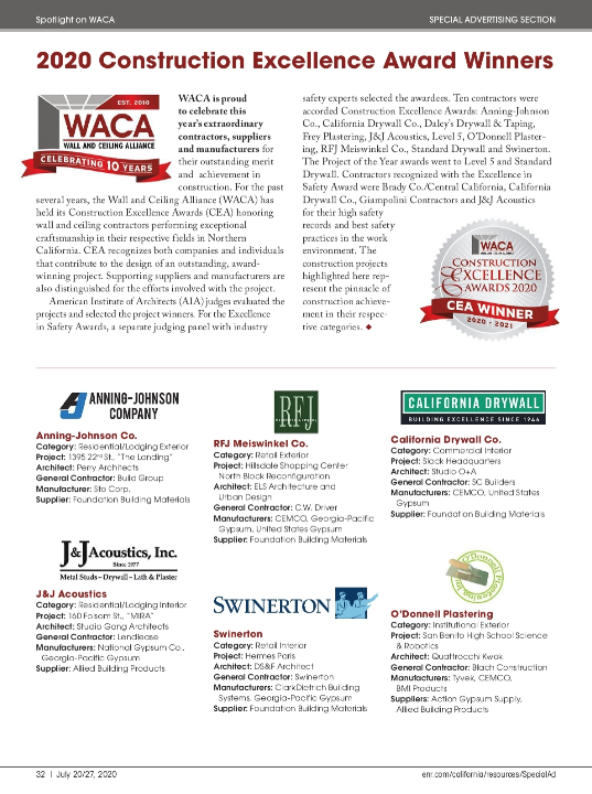 ENR CA/Northwest: Spotlight on WACA
